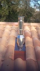 Conduit de fumée cylindrique isotip-joncoux 33 bordeaux